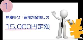 見積もり・追加料金無しの15,000円定額